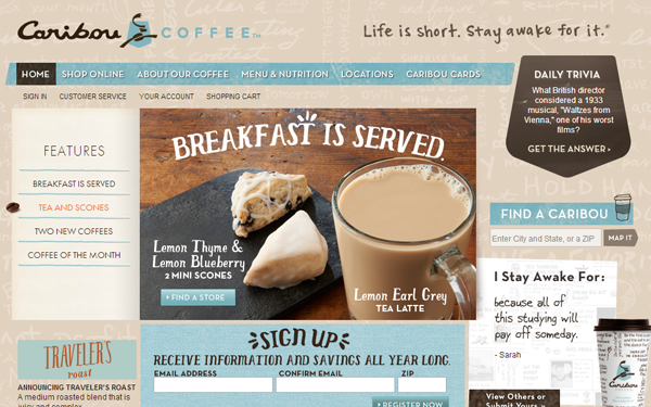 33 Web Design Trends in Café and Restaurant Layouts