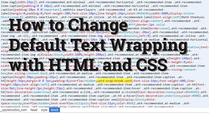 How to Change Default Text Wrapping with HTML and CSS