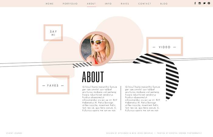 about us page design inspiration