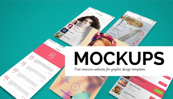 Graphic design mockups